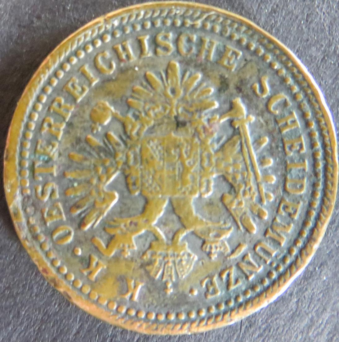 Münze Österreich 1851 A - 1 Kreuzer Freistehender Adler Kupfer ss