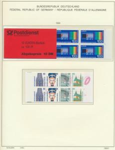 Bund MH 30 Europa + MH 31 Sehenswürdigkeiten 1994 postfrisch