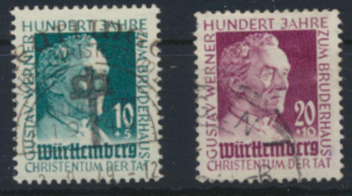 Württemberg 47-48 gest. 100 Jahre Gustav-Werner-Stiftung