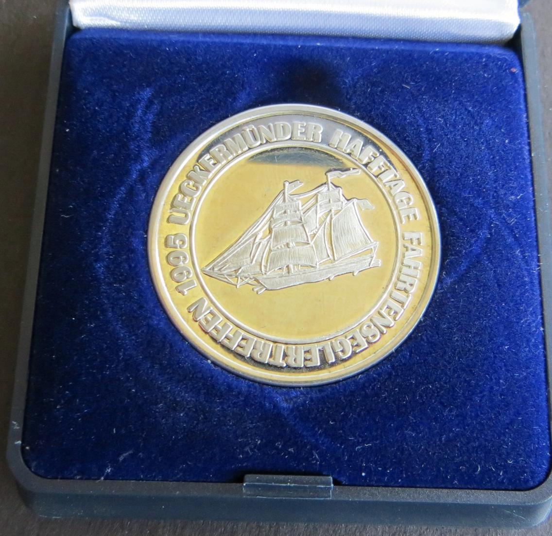 Medaille Deutschland 1995 Ueckermünder Hafftage Fahrtenseglertreffen K-N stgl