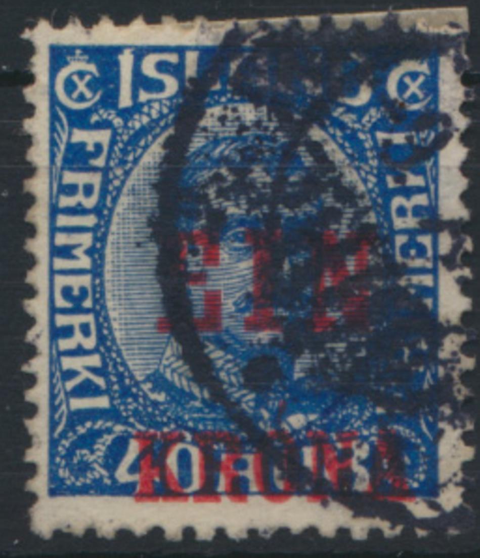 Island Freimarke 121 Ausgabe 1926 mit Aufdruck gestempelt