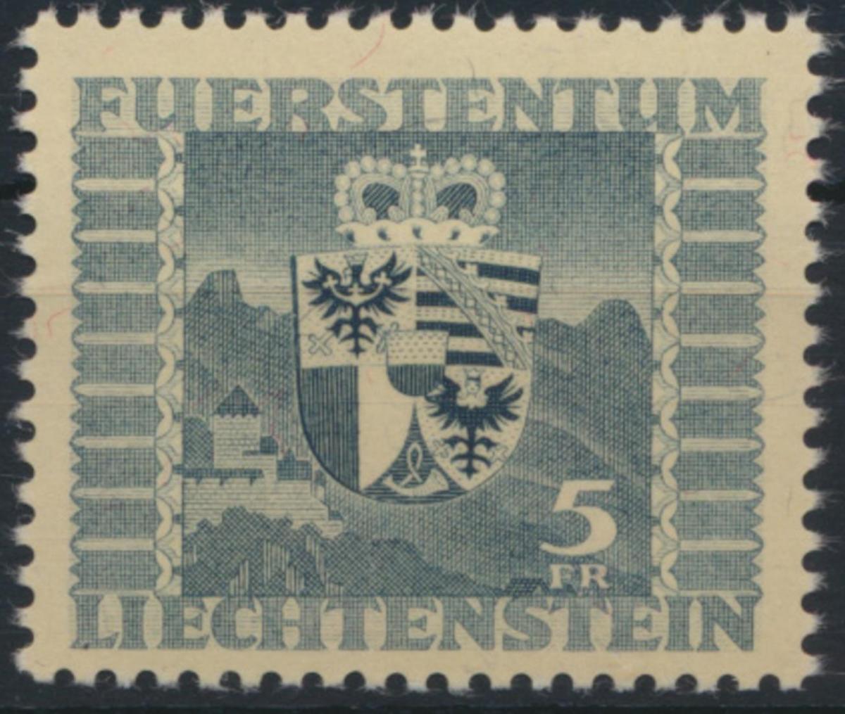 Liechtenstein 243 Wappen Ausgabe 1945 tadellos postfrisch MNH