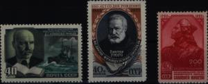 Sowjetunion 1631-1633 drei Ausgaben 1952 Nowikow-Proboj/Julajew komplett ** MNH