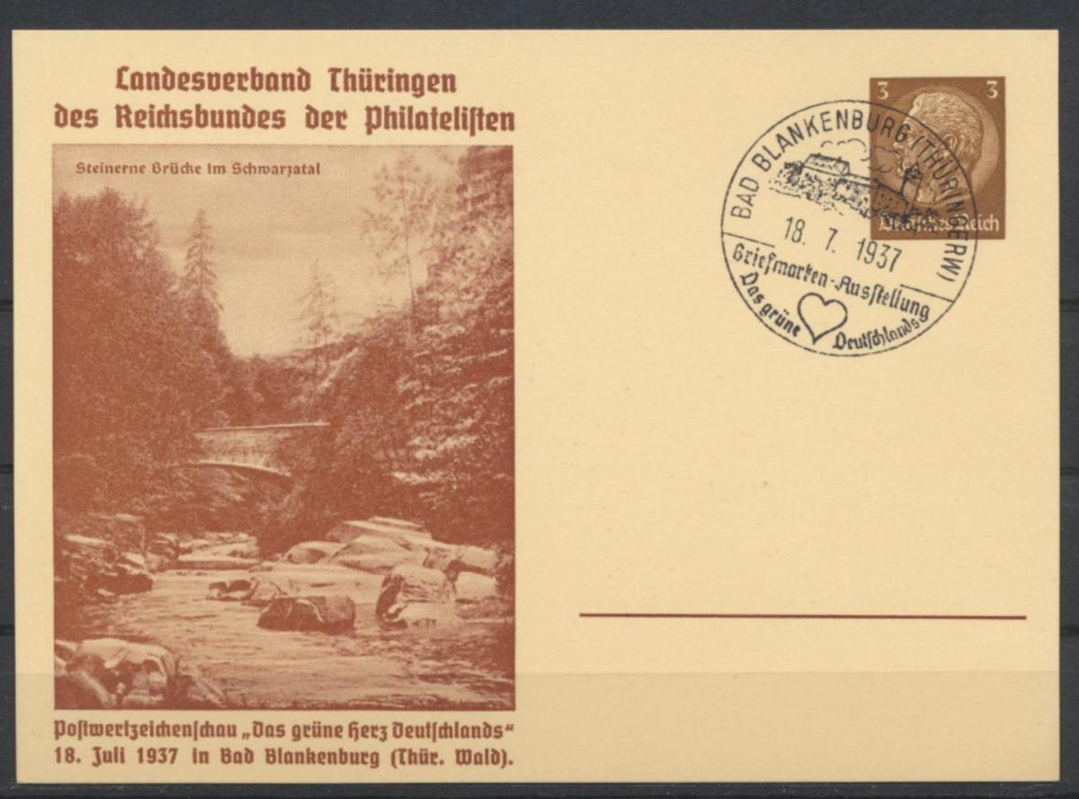 Deutsches Reich Privatganzsache PP 122 C52 Philatelie Blankenburg Das grüne Herz