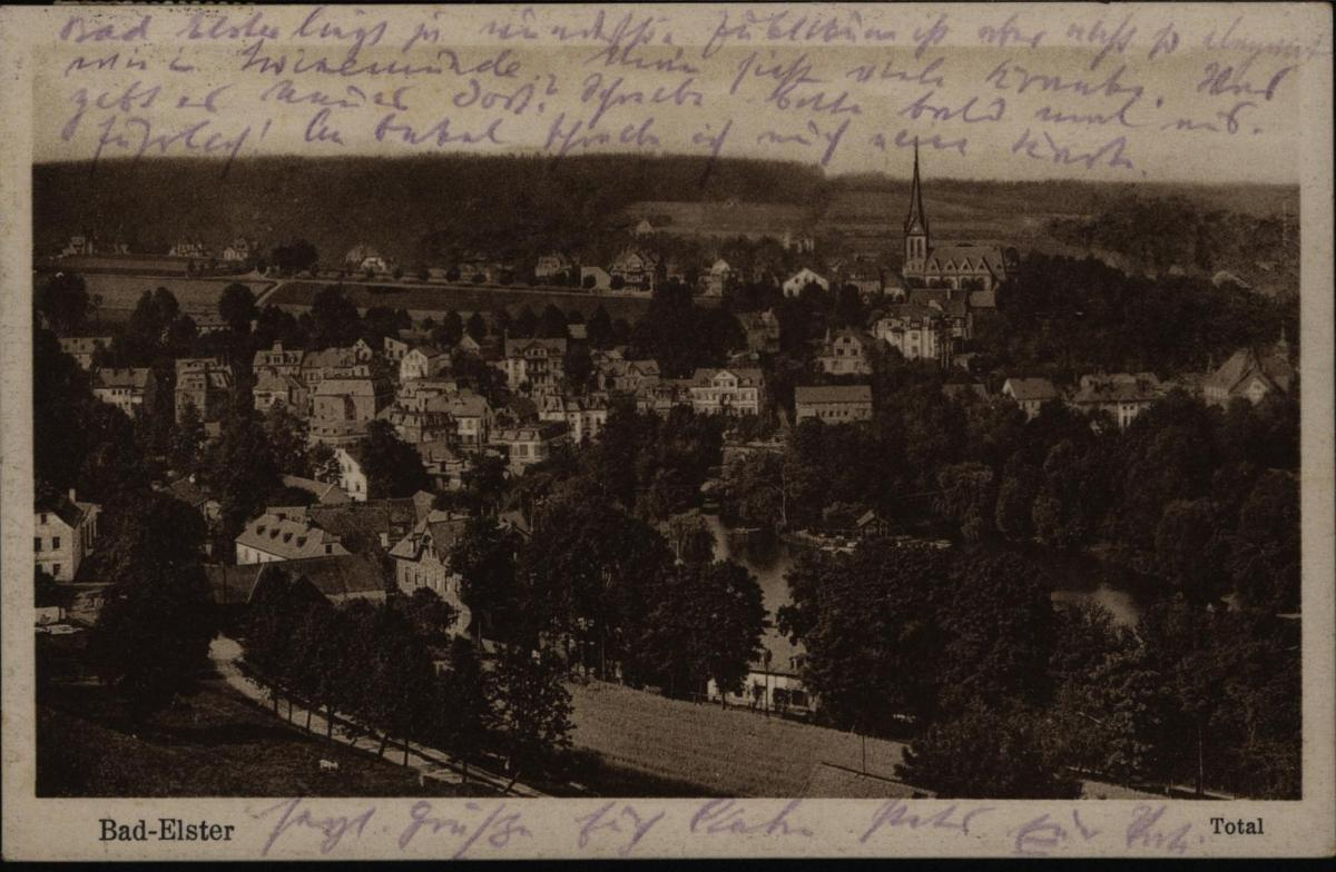 Ansichtskarte Bad Elster Total 1930 nach Büsum 0