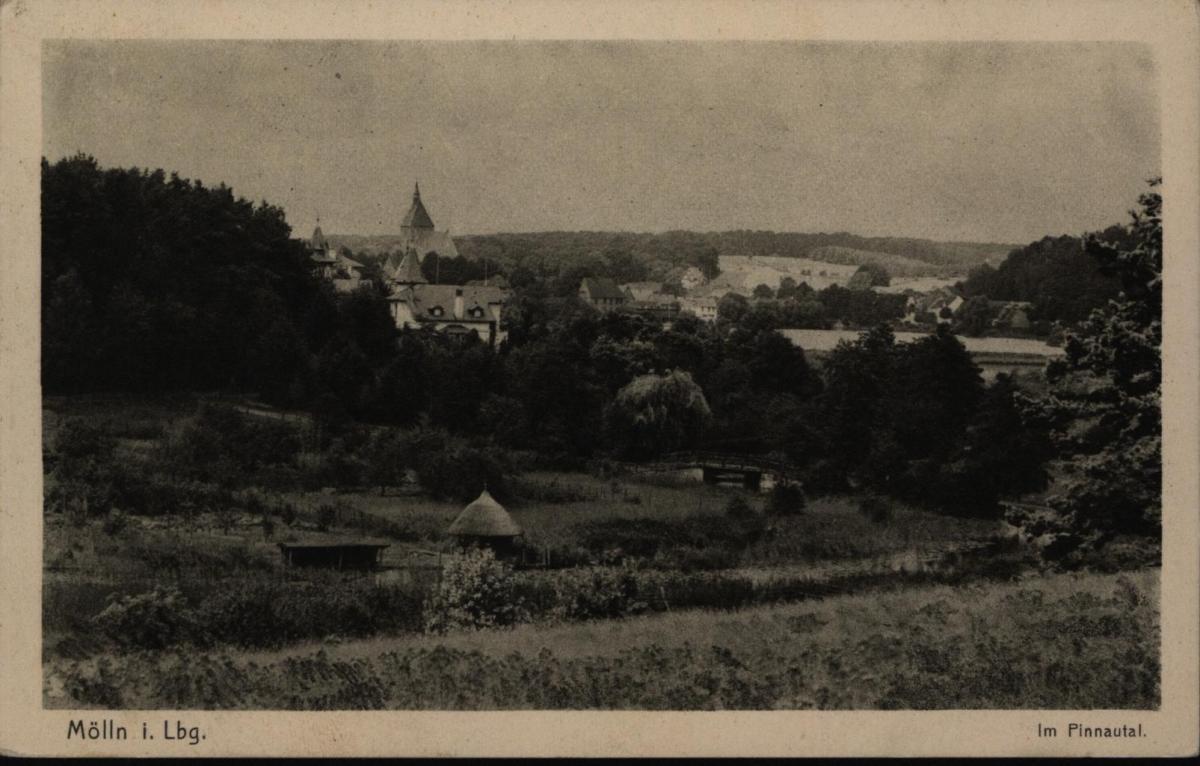 Ansichtskarte Mölln Pinnautal Schleswig-Holstein nach Hamburg 1925 0