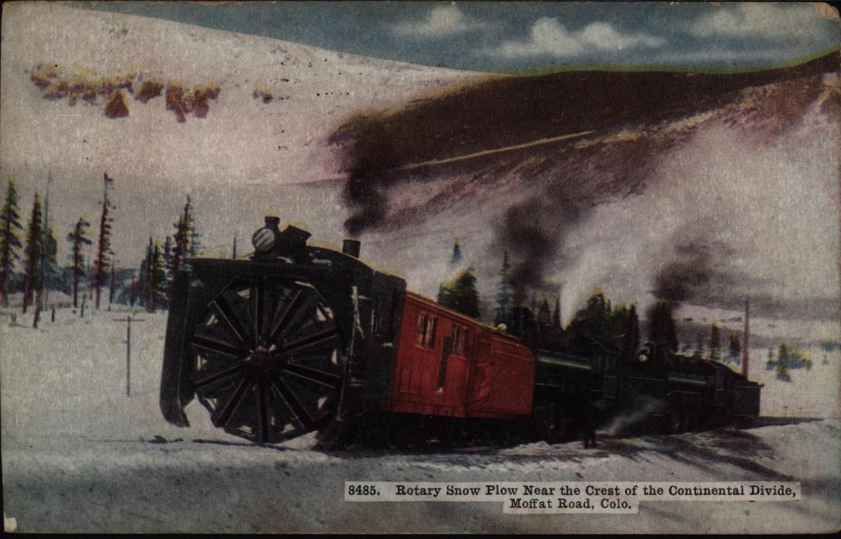 Ansichtskarte USA Eisenbahn 1913 ab Denver Colorado 0