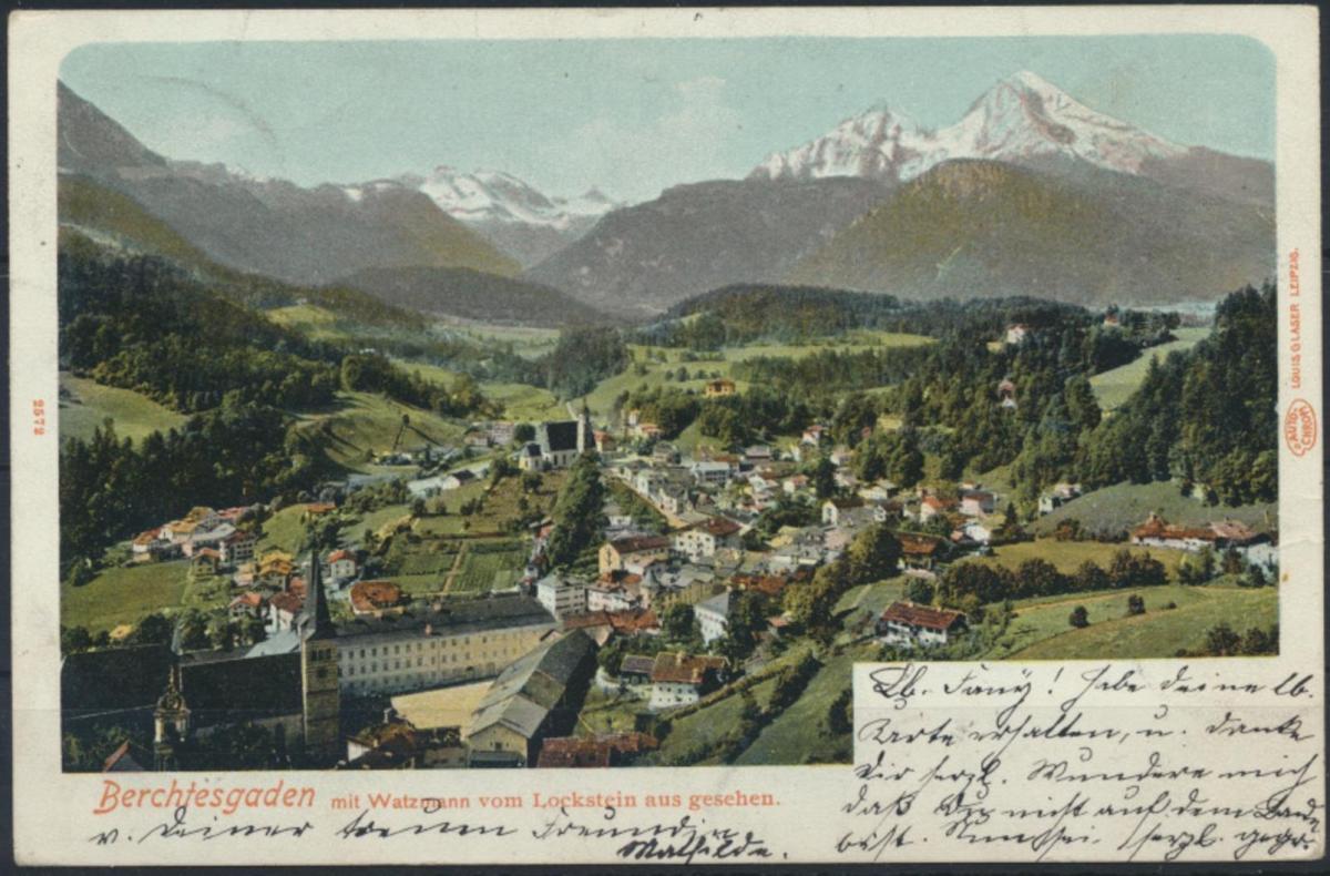 Ansichtskarte Berchtesgarden 1904 nach München 0
