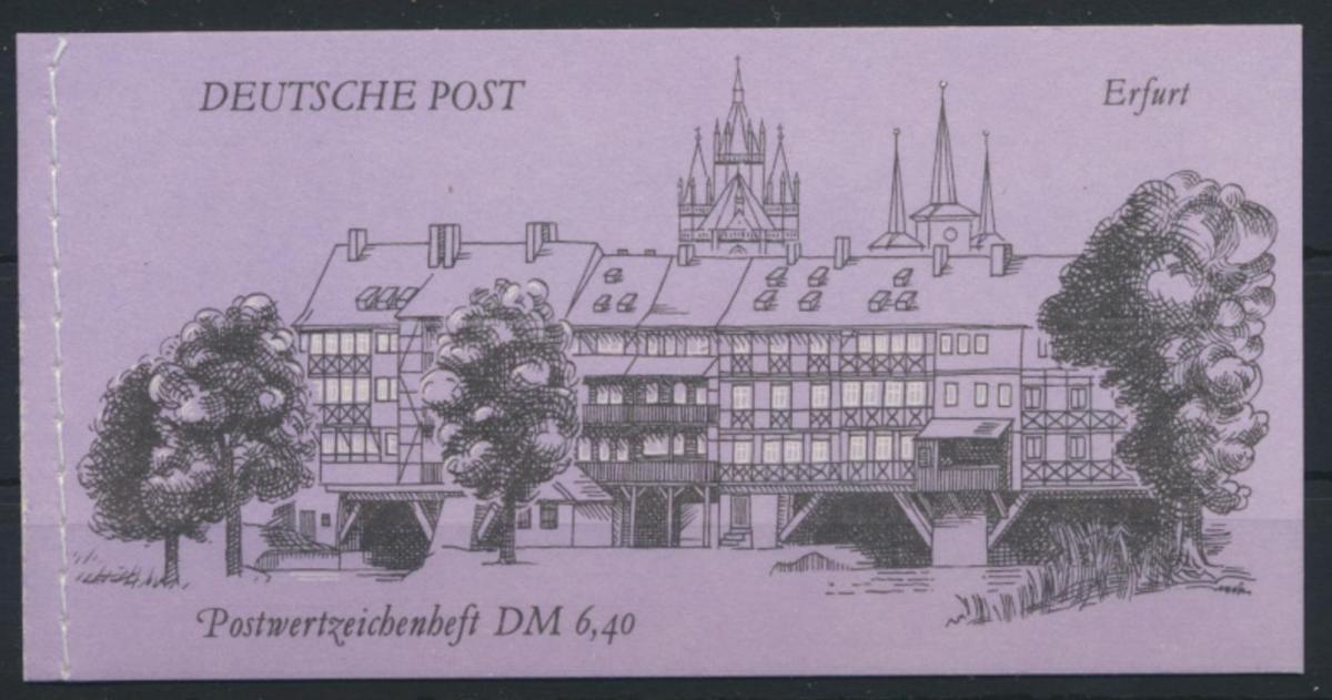 DDR Markenheftchen MH 10 Bauwerke + Denkmäler Luxus Ersttag Berlin 02.10.1990