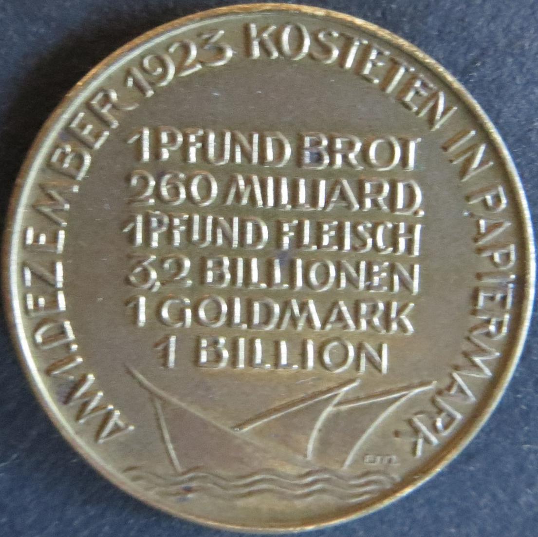 Medaille Deutschland 1923, Des Deutschen Volkes Leidensweg Inflationmedaille