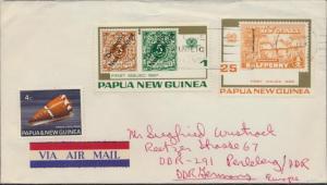 Papua Neuguinea Brief Motiv deutsche Kolonien MIF 141+262+266 Lae nach Perleberg