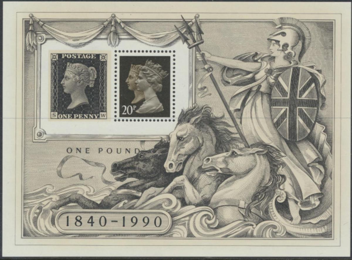 Großbritannien Block 6** (6x) - 150 Jahre Briefmarken