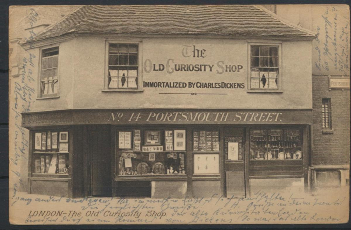 Grossbritannien picture postcard Old curiosity Shop Charles Dickens Portsmouth 0