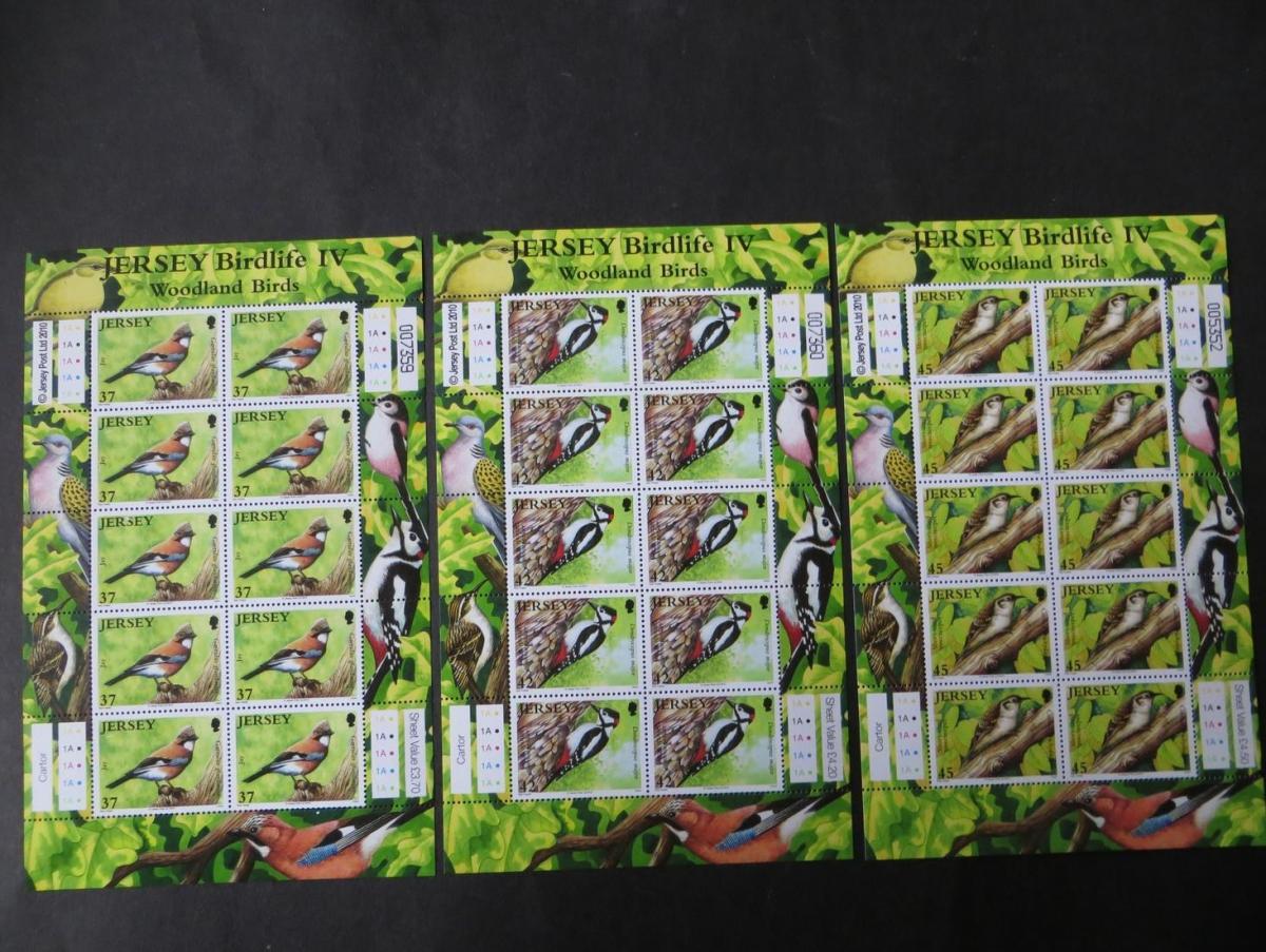 Großbritannien Jersey Kleinbogensatz 1472-77 Waldvögel Luxus postfrisch MNH 2010