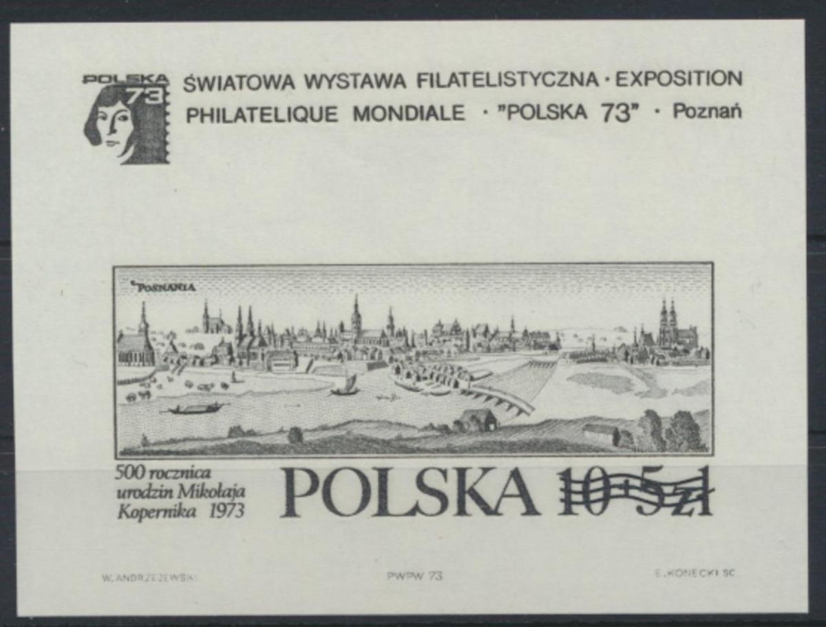 Polen Block 55 S Schwarzdruck postfrisch POLSKA Briefmarekenausstellung Posen