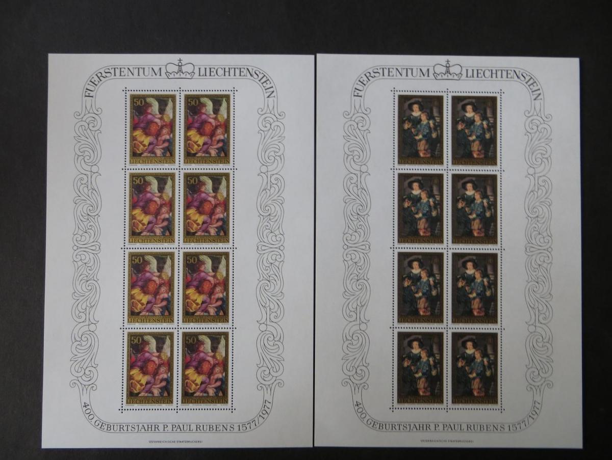 Liechtenstein 655-657 Rubens Kleinbogensatz Luxus postfrisch MNH Kat.-Wert 55,00