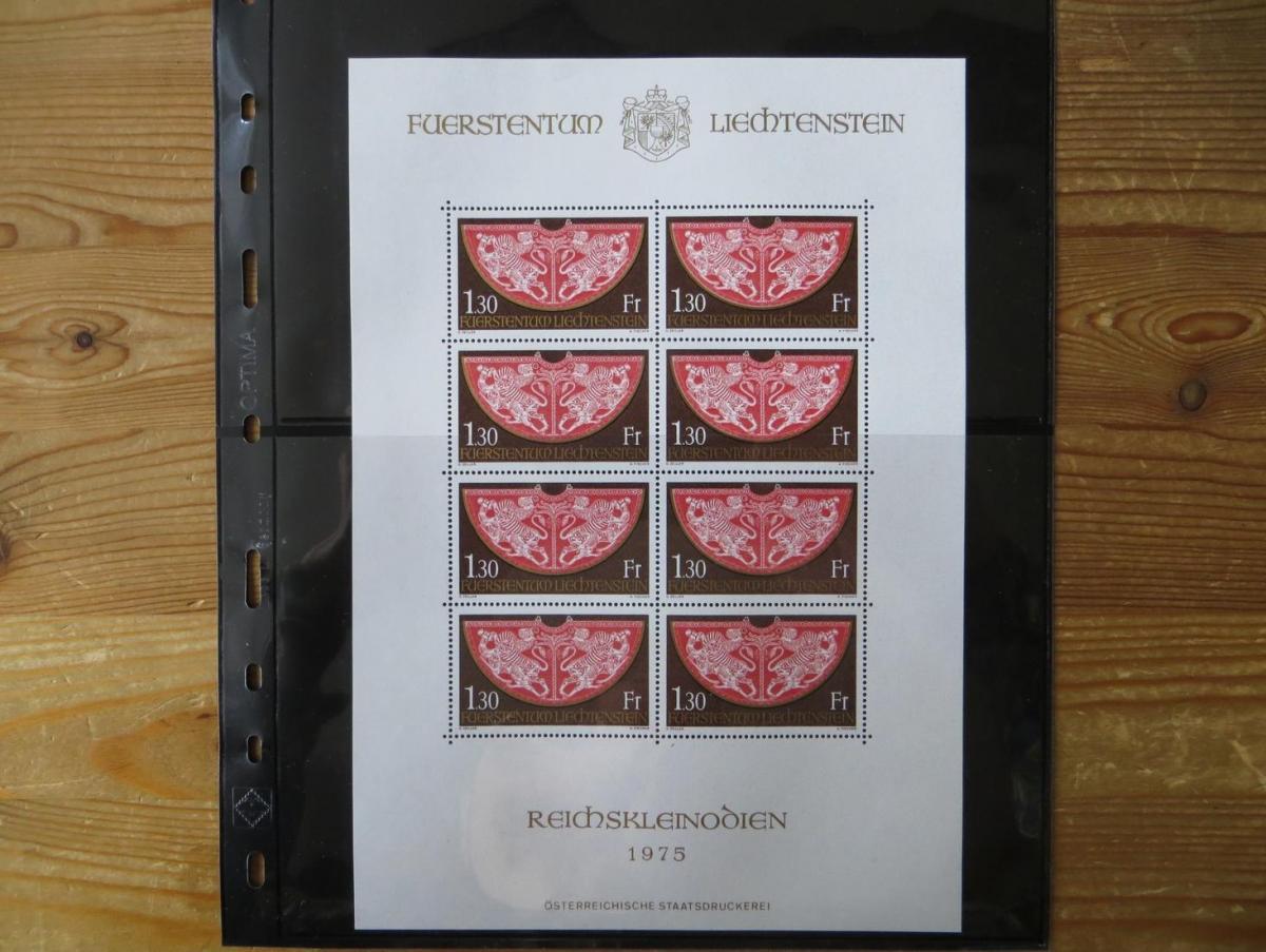 Liechtenstein 634 Krönungsmantel Kleinbogen postfrisch 1975 MNH Kat.-Wert 30,00