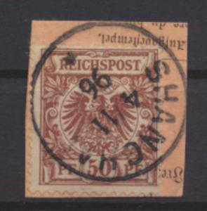 Kolonien DAP China Vorläufer V 50 d Luxus Briefstück Shanghai Kat-Wert 130,00