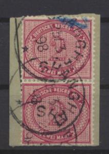 Kolonien DAP China Vorläufer V 37 f Briefstück senkr. Paar Kat 240,00