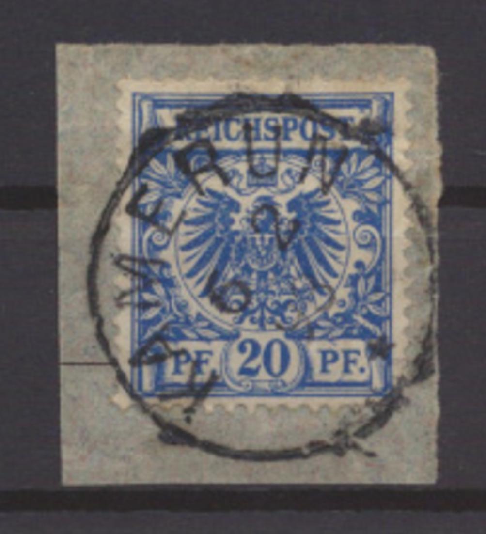 Kolonien Kamerun Vorläufer V 48 d Briefstück tiefst gepr. Steuer Kat.-Wert  80,- 0