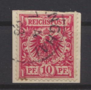 Kolonien DAP China Mitläufer M 47 a Briefstück Shanghai 7.4.1898 KatWert  100,00