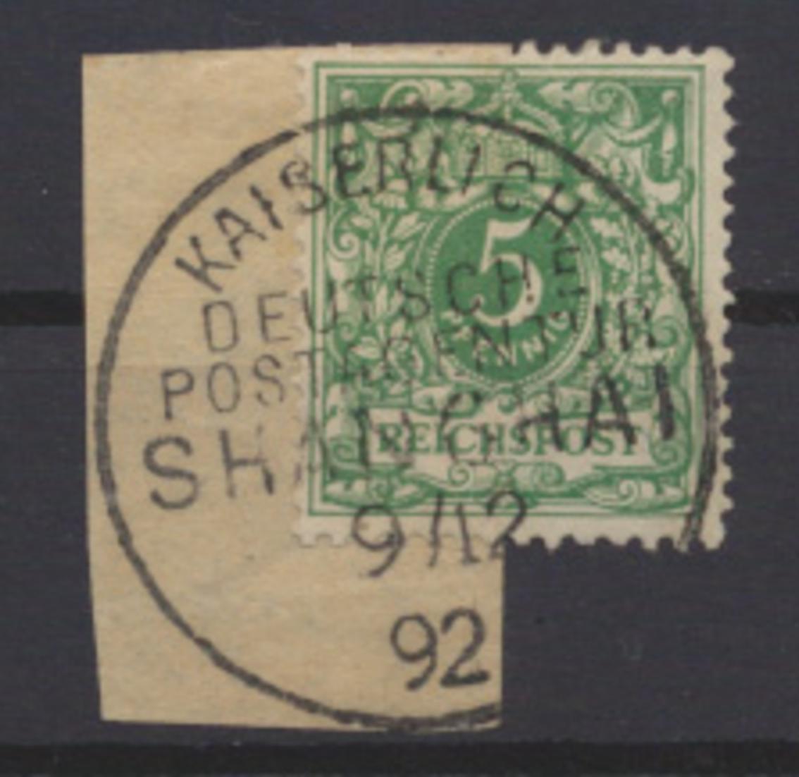 Kolonien DAP China Vorläufer V 46 c Stempel Kaiserl Dt. Postagentur Kat 80,00