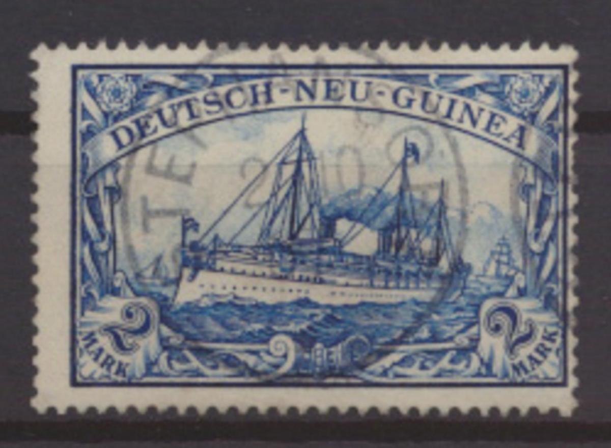 Kolonien Deutsch Neuguinea 17 gestempelt STEPHANSORT Kat.-Wert 95,00 0