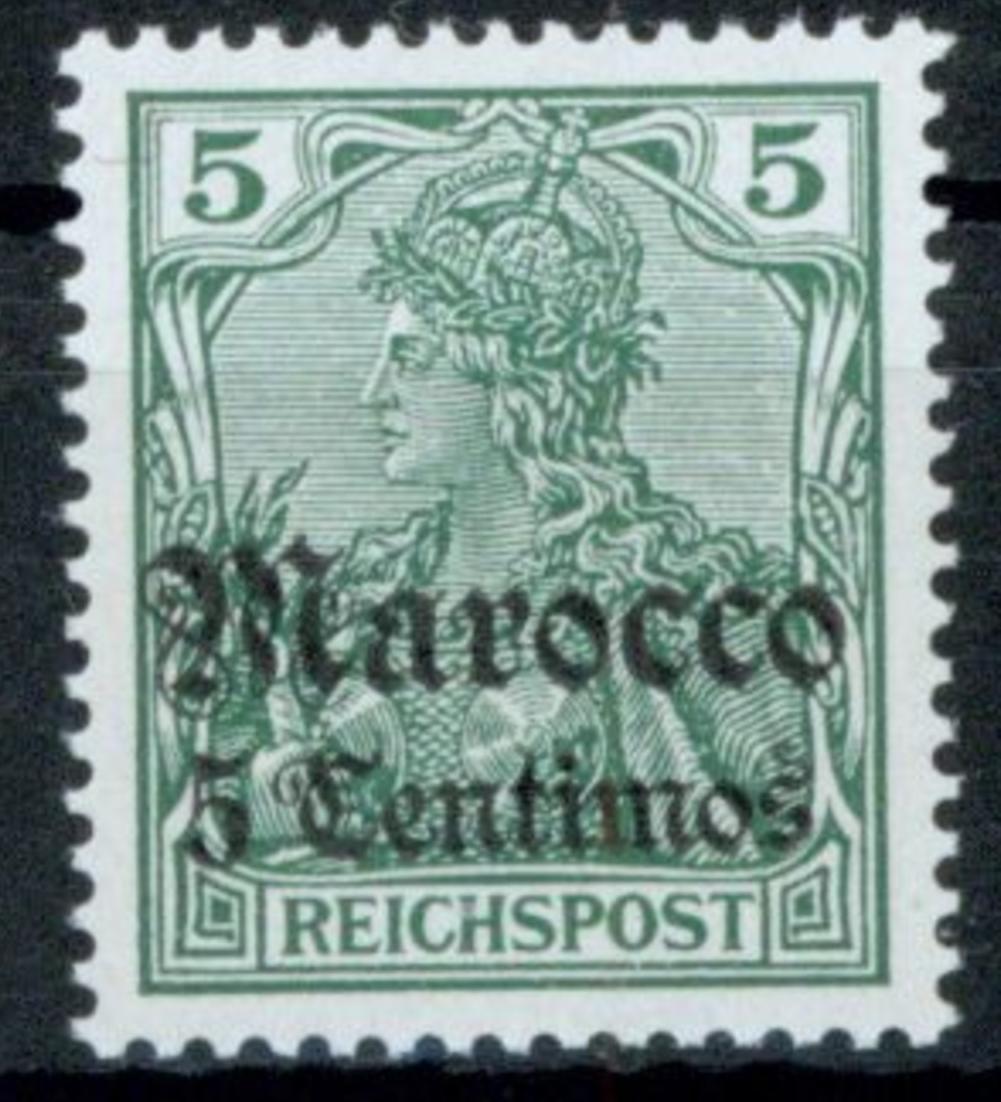 Kolonien DAP Marokko 20 Luxus postfrisch MNH Kat.-Wert 24,00 0
