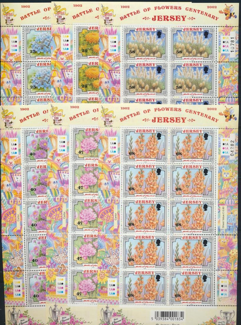 Großbritannien Jersey Kleinbogensatz 1041-46 Blumenfestival Luxuspostfrisch MNH