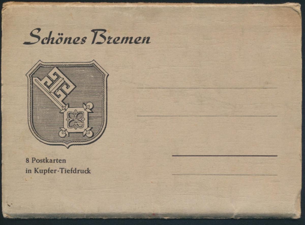 Ansichtskarten Schönes Bremen 8 Postkarten Kupfertiefdruch mit Originalumschlag 0