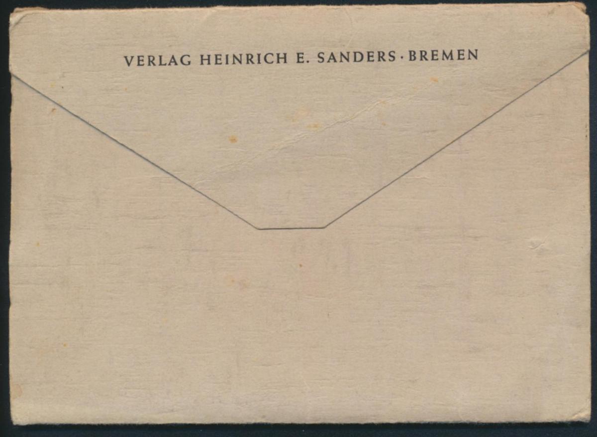 Ansichtskarten Schönes Bremen 8 Postkarten Kupfertiefdruch mit Originalumschlag 1