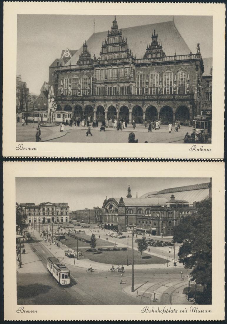 Ansichtskarten Schönes Bremen 8 Postkarten Kupfertiefdruch mit Originalumschlag 2