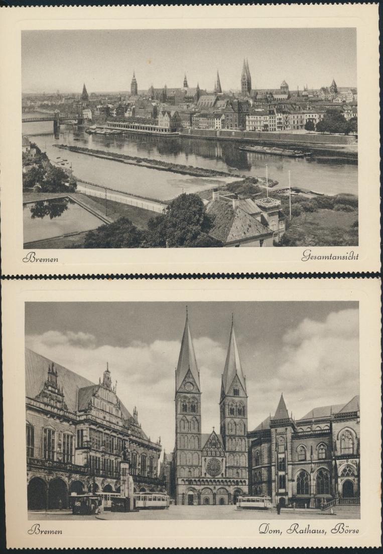 Ansichtskarten Schönes Bremen 8 Postkarten Kupfertiefdruch mit Originalumschlag 3