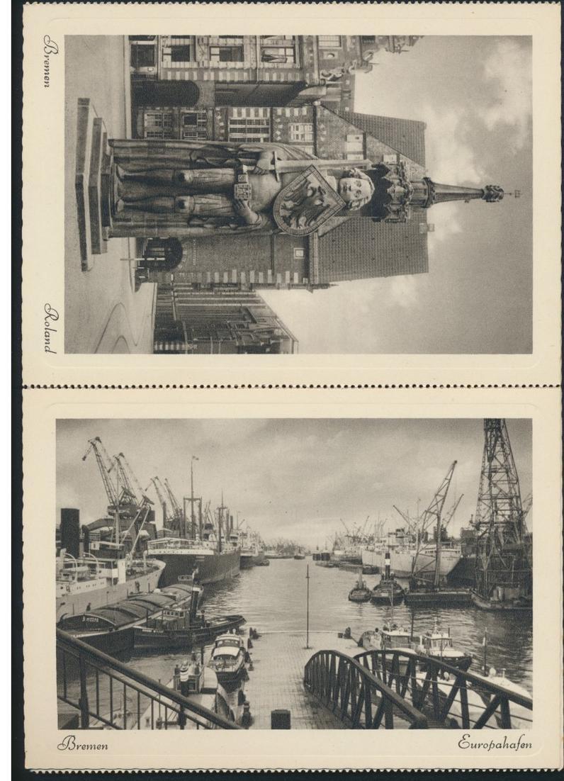 Ansichtskarten Schönes Bremen 8 Postkarten Kupfertiefdruch mit Originalumschlag 4