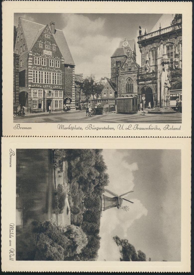 Ansichtskarten Schönes Bremen 8 Postkarten Kupfertiefdruch mit Originalumschlag 5
