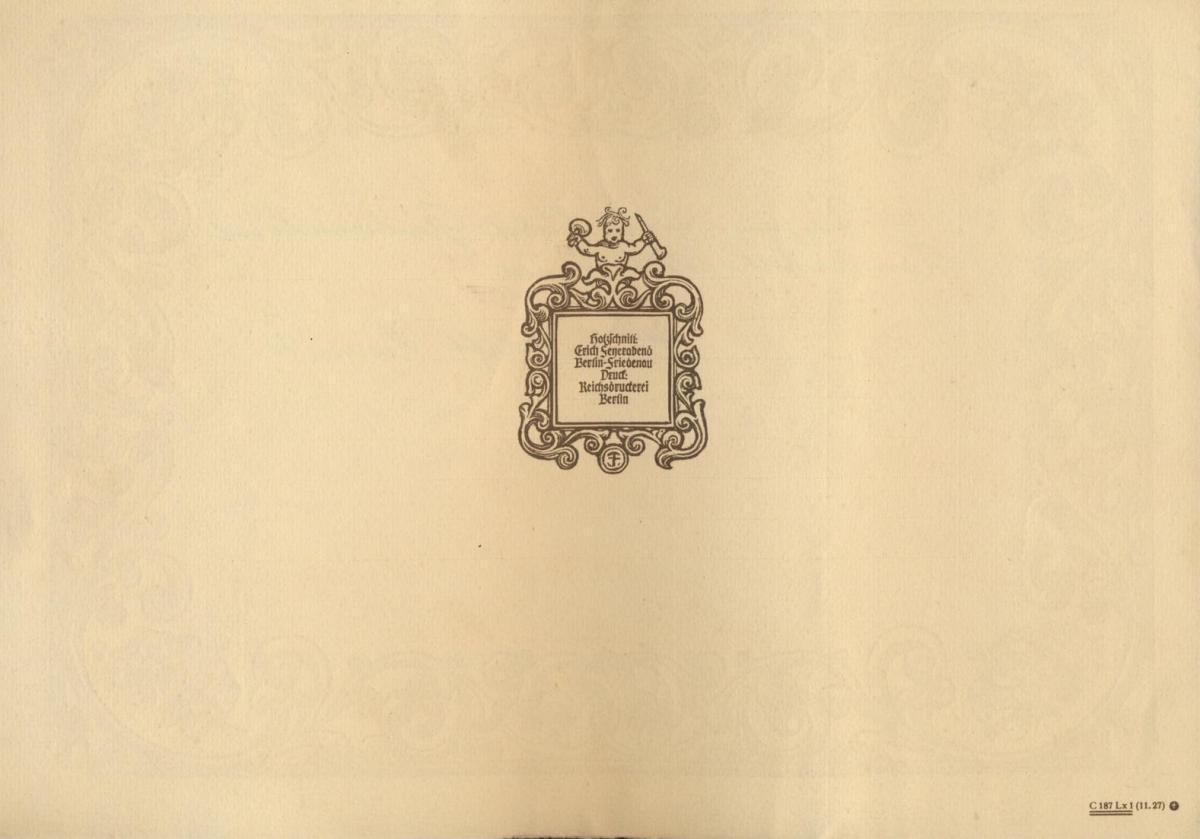 Deutsches Reich Gutes Lot Schmuckblatt Telegramme zur Zeit des 3. Reiches 7 St. 3