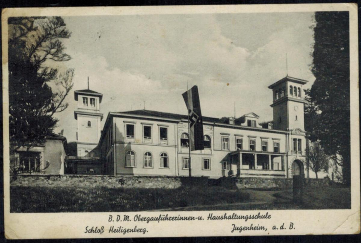 Ansichtskarte BDM Obergauführerinnen u. Haushaltungsschule Heiligenberg Schloß 0
