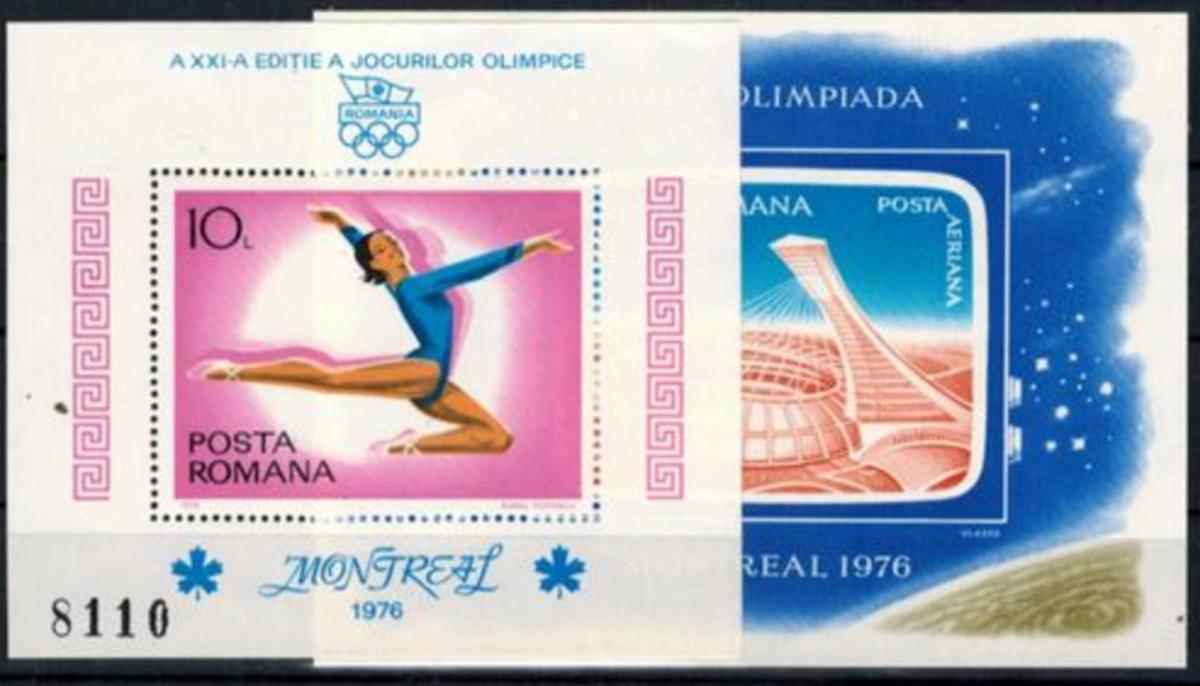 Rumänien Olympia Sport Block Olympische Sommerspiele Montreal postfrisch 1976