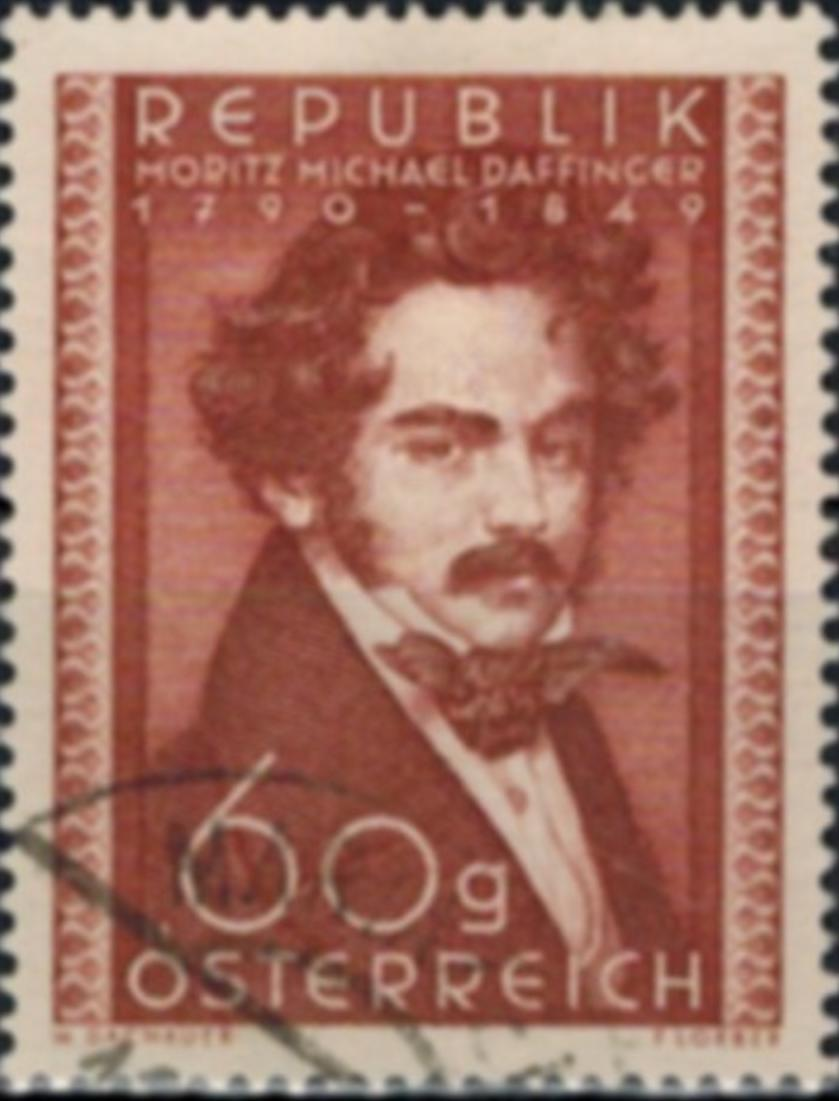 Österreich 948 gestempelt Moritz Daffinger Maler 1950