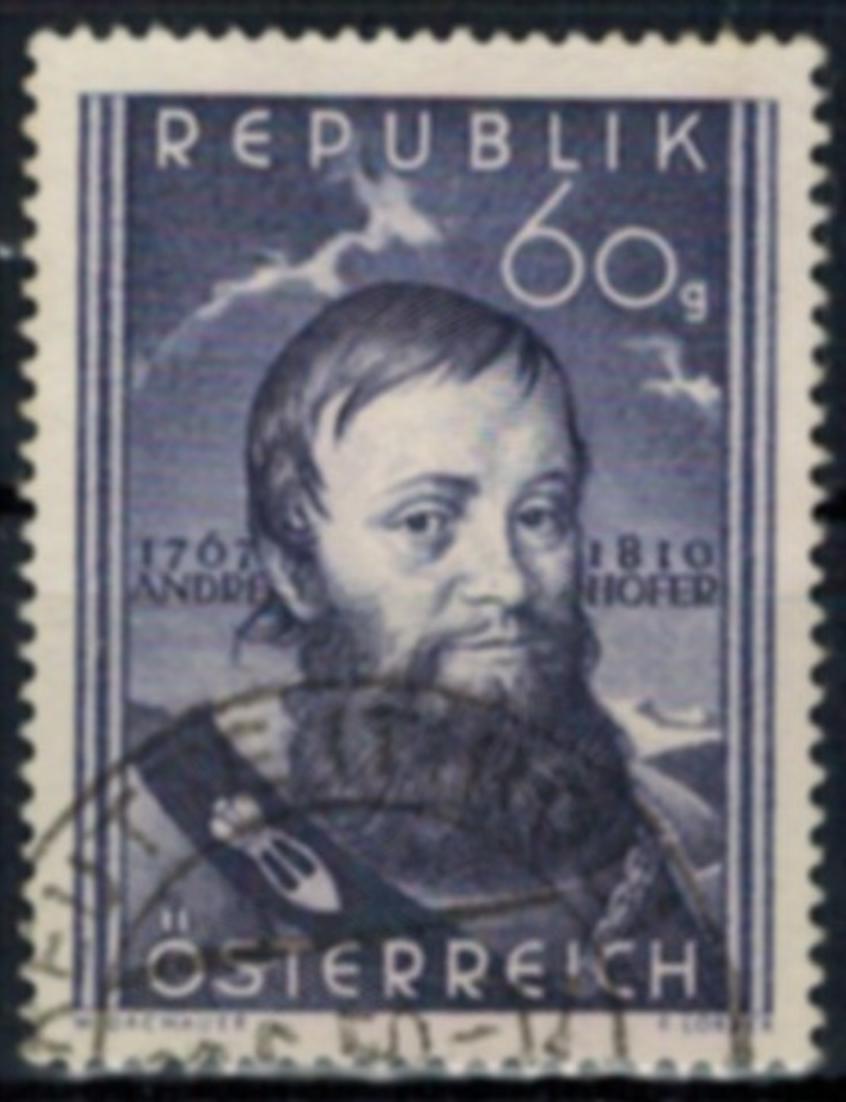 Österreich 949 gestempelt Andreas Hofer Freiheitskämpfer 1950