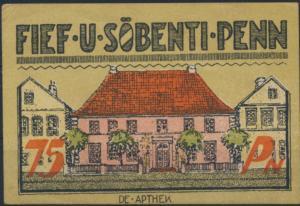 Notgeldschein Stadt Bredstedt 75 Pfennig 1922