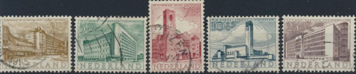 Niederlande 655-659 gestempelt  Sommermarken 1955 Architektur