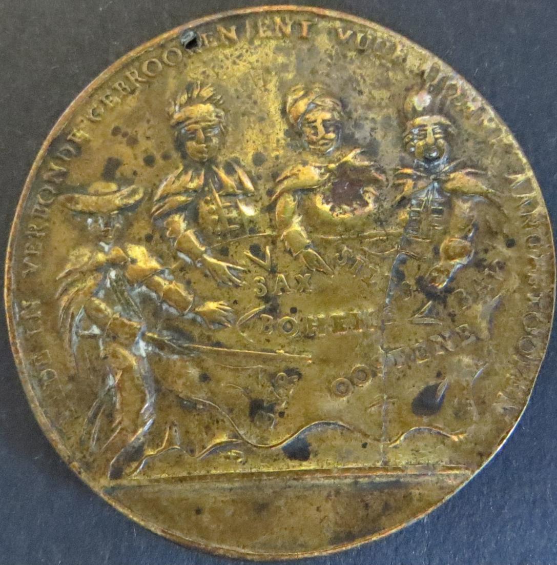 Münze Medaille Österreich Maria-Theresia Spottmedaille De pragmatique sanctie ss
