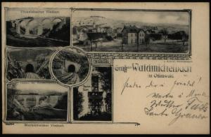 Ansichtskarte Waldmichelbach Odenwald Eisenbahn Brücke Viadukt Tunnel Hessen