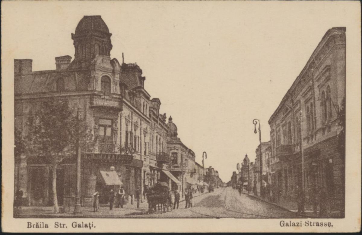 Ansichtskarte Brăila Str. Galati Rumänien Galazi Str. Feldpost n. Crimmitschau