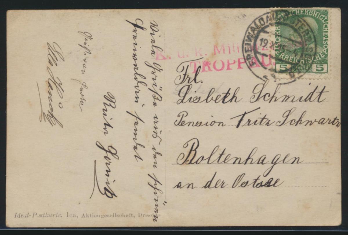 L2 K.u.K. Militär Zensur Troppau K2 Freiwaldau Österreich Schlesien a. seltener