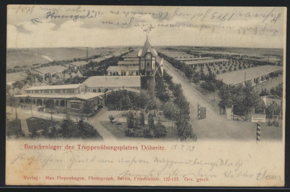 Ansichtskarte Döberitz Truppenübungsplatz Ratzeburg Lauenburg Verlag Piepenhagen