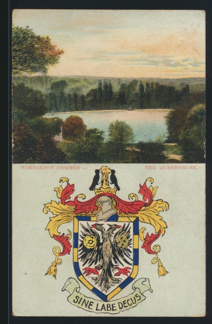 Wappen Ansichtskarte Großbritannien Great Britain Wimbledon Wappen coat of arms