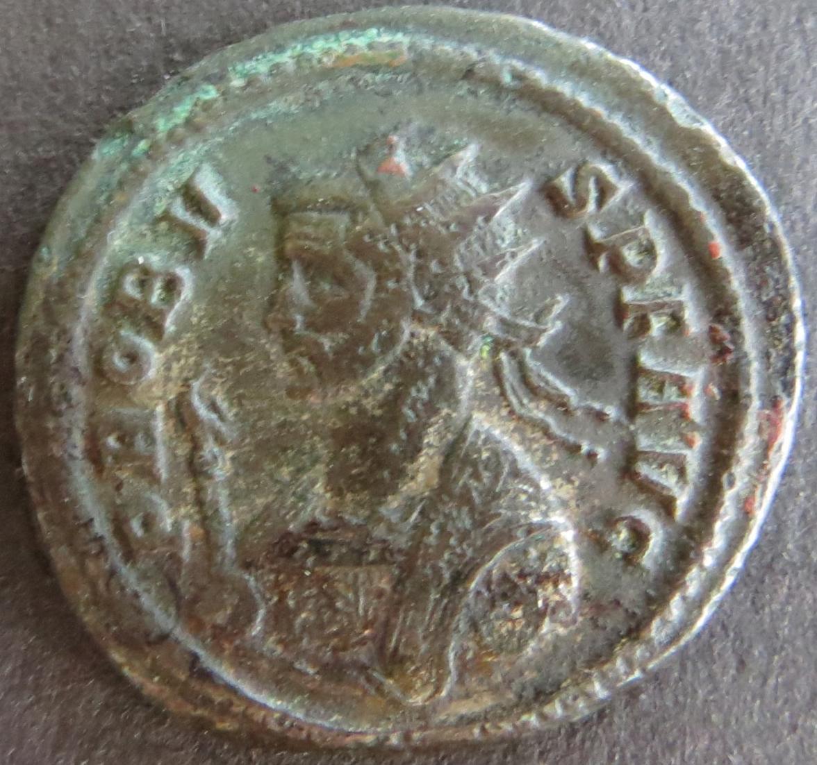 Römische Münze Probus 276-282 Antoninian RS Tempel etwas Patina s