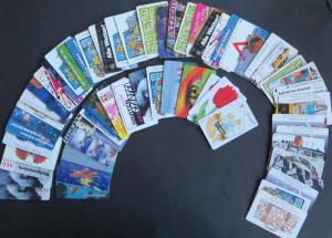 Inter. Sammlung von 89 Stück Telefonkarten Deutschland größtenteils DM Werte